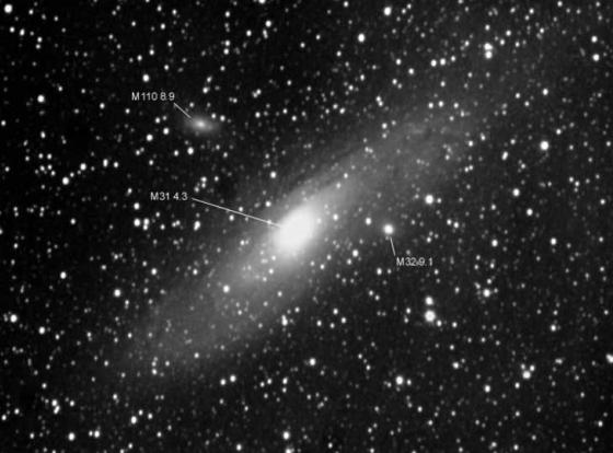M 31 Galaxy in  Andromeda