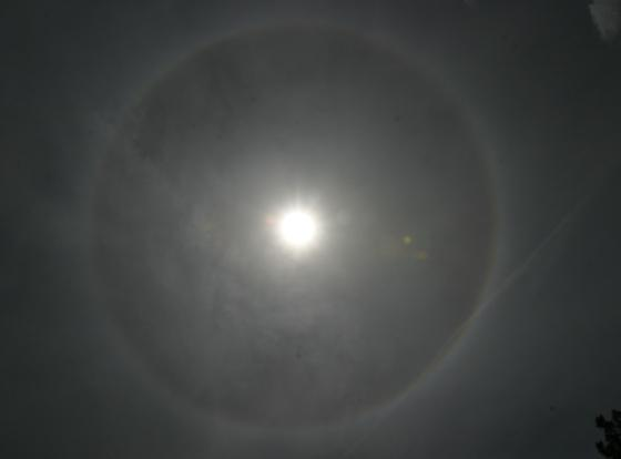 22 degree Solar Halo over Flagstaff Observatory, Arizona